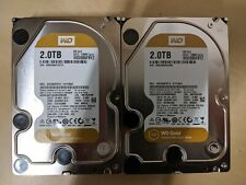 "Lot of 2 Western Digital 2TB 3.5"" 7200RPM SATA Hard Disk Drives WD WD2005FBYZ"