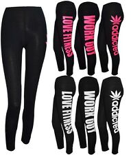 LADIES NEW PRINTED LEGGING GYM TRAINING PANTS SPORTS FITTNESS TROUSER ALL SIZES