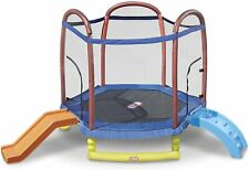 Little Tikes Climb 'n Slide 7-Foot Trampoline, with Enclosure, Blue - Brand NEW!