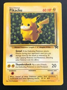 CARTE POKEMON WIZARDS - PIKACHU 1 PROMO BLACK STAR - EXC/NM