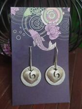 Spiral Heart Believe in Love quote earrings - Akashic Lotus Design E53