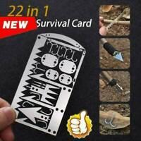 Multi Tool Card survival Wallet sized Camping Hiking Emergency Kit  EDC Gear