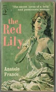 Vtg Pulp Book Fiction Novel The Red Lily By Anatole France Pin Up Cover Romance