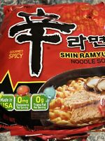 Nongshim Shin Ramyun Noodle Soup, Gourmet Spicy - 4.2oz (Pack of 5)