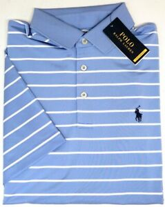 Polo Ralph Lauren Blue Short Sleeve Classic Fit Performance Shirt Thermo NEW $98
