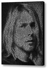 Smells Like Teen Spirit Nirvana Kurt Cobain Lyrics Mosaic Framed Art Limited Ed.