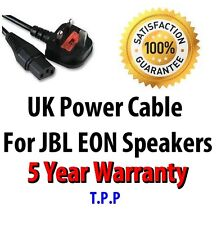 GENUINE NEW UK Mains Power Lead Cable Cord For JBL EON Speakers