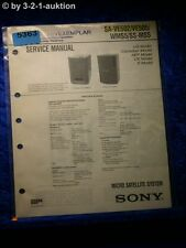 Sony Service Manual SA VE502 VE505 WMS5 / SS MS5 (#5363)