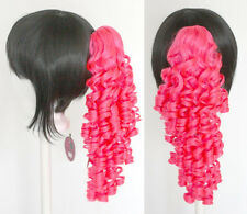 18'' Ringlet Curly Pony Tail Clip Hot Pink Cosplay Lolita Wig Clip Only NEW
