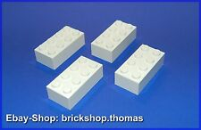 Lego 4 x  Bausteine Steine - 2x4 - Basic Bricks weiß / white - 3001 - NEU / NEW
