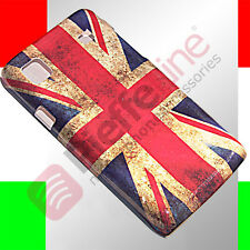 Custodia pvc cover case SKIN SAMSUNG s5300 galaxy pocket flag uk vintage