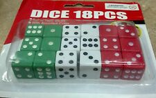 18 count dice set kids play game new pack