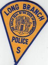 """LONG BRANCH POLICE """"S"""" NEW JERSEY NJ SHOULDER PATCH OLDER"""