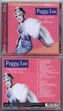 "PEGGY LEE ""Things Are Swingin' & The Man..."" (2 CD)NEUF"