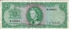 TRINIDAD & TOBAGO, $5, QEII, L. 1964