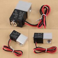 """12V Pneumatic Electric Solenoid Valve Air Gas Liquid Normally Closed 1/4"""" 2 Way"""