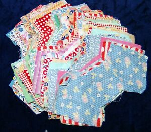 LOT of 95  ANTIQUE UNFINISHED QUILT BLOCKS BOW TIE FEEDSACK CUTTER