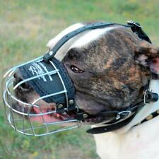 Best American Bulldog Muzzle for Dogs Metal Dog Muzzle Basket Soft Padded Cage