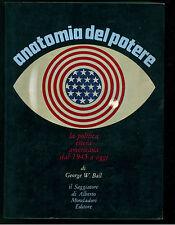 BALL GEORGE ANATOMIA DEL POTERE IL SAGGIATORE 1968 POLITICA 6 USA AMERICA