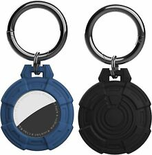 2x For Apple AirTag Silicone Loop Holder Keyring Carry Case Keychain pet Air Tag