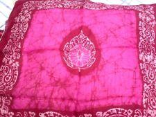 """7.50 £ Indien 100/% pure soie fait main Uni Fluo Rose Écharpe 21/""""//54cm X 21/""""//54cm"""