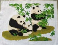 "NEW finished completed Cross stitch""Panda""home wall decor gift"