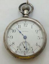 Waltham 16 Size Coin Silver Art Nouveau 17 Jewel 1902 Pocket Watch Runs LW057