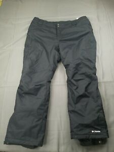 Columbia Omni-Tech Men's XXL Insulated Snow Pants Black *RIPPED* Ski Winter 2XL