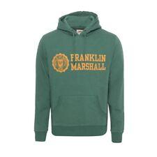 Franklin & Marshall Marca Sudadera Con Capucha Verde Med Con Capucha Sudadera Rrp £ 65.00
