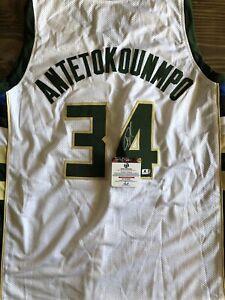 Giannis Antetokounmpo Signed Jersey (COA)