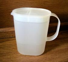 Tupperware Clear Slim Juice Jug 1 QT Pitcher 1529-2 & 1220-1
