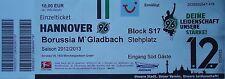 TICKET 2012/13 Hannover 96 - Mönchengladbach