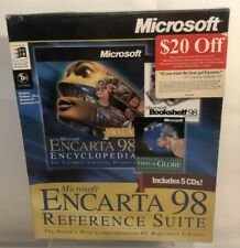 Microsoft Encarta 98 Reference Suite 5 CDS PC Vintage New in sealed box