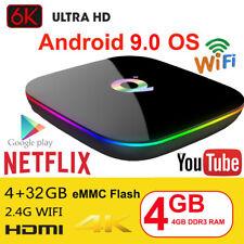 Q plus 6K 4+32G Android 9.0 Pie Smart TV Box Quad Core WIFI USB Media HDMI 2.0