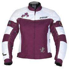 Spada Lara Ladies Waterproof Textile Motorcycle Jacket Pink Black Blue Purple