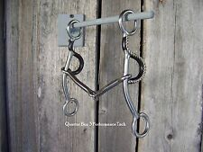 Bit - SS Sweet Iron Snaffle Gag with Rope Edge
