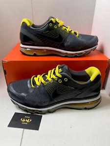 Nike Air Max + 2010 Black Speed Yellow Rare Running 386368-014 Size 12 NC