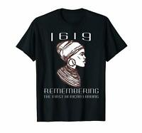 Project 1619 Remembering The First African Landing Patriot Black T-shirt S-6XL