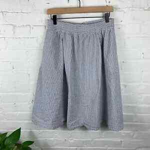 Cynthia Rowley Women's Striped Elastic Waist A-Line Skirt Size Large