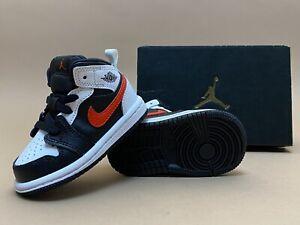 Nike Air Jordan 1 Mid TD Black Chile Red White BRED Chicago Baby Toddler sz 4c
