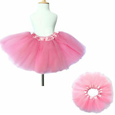 Girls Childrens Tutu Dancewear Skirt Dress Up Fancy Party Ballet Dance Pink