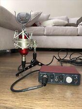 Focusrite Scarlett Solo 2nd Gen USB Audio Interface and Microphone Setup