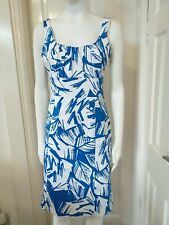 Coast Ladies Blue and White Day Dress Size 12