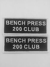 BEAST MODE BENCH PRESS 200 CLUB SEW/IRON ON PATCH EMBROIDERED WEIGHTLIFTING GYM