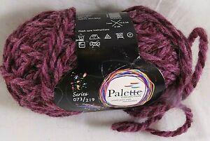 Palette Yarns Beaujolais Purple Bulky Yarn Knitting Crochet Craft Twisted
