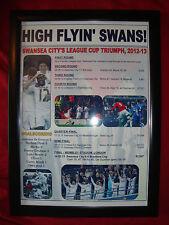 Swansea City capital una Taza Run 2012/13-enmarcado impresión