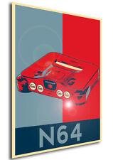 Poster Propaganda - Console Vintage - Nintendo 64