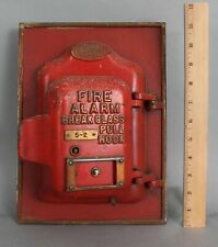 Antique 1900s Faraday Stanley & Patterson Wall Mount Fire Alarm Call Box, Comple