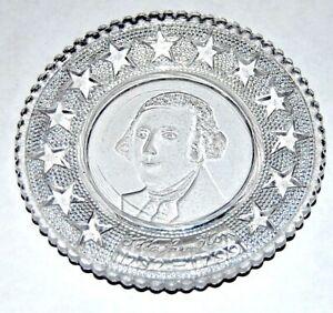 1900's GEORGE WASHINGTON Glass Ash Tray smoking tobacco tobacciana presidential