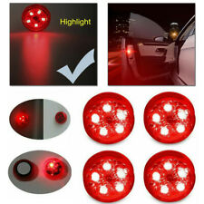 4x Car 5-LED Door Open Warning Lamp Strobe Flash Anti-collision Safety Red Light